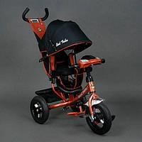 Трехколесный велосипед с фарой и ключом зажигания Best Trike 6588B бронза (надувные колеса)