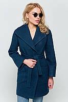 Зимнее пальто «Эйми» вареная шерсть изумрудное