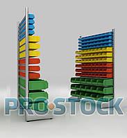 Стеллаж для пластиковых лотков h=1500 мм односторонний
