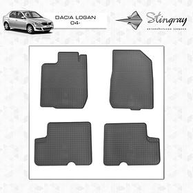 Коврики резиновые Dacia Renault Logan 2004- Stingray 1004014