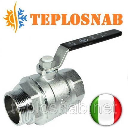 "Кран шаровый PN28 1 1/2"" НВ ручка Officine Rigamonti (Италия), фото 2"