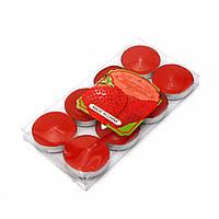 Свечи чайные ароматизированные красные 8 шт