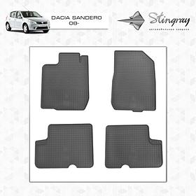 Коврики резиновые Dacia Sandero 2008- Stingray 1004014