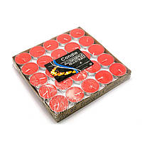 Свечи чайные красные 50 шт 26897