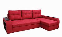Угловой диван Garnitur.plus Барон красный 250 см