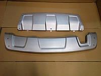 Накладки на бампер Дастер Рено (Skid Plate)