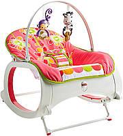 Шезлонг-кресло-качалка с вибрацией Цветочные конфетти, Fisher Price Infant-to-Toddler Rocker,Фишер прайс CMR19