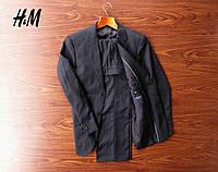 Красивый фирменный мужской черный костюм H&M (50/L)