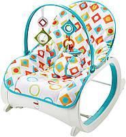 Детский шезлонг - детское кресло - качалка Geo Diamonds Fisher Price Фишер прайс CMP83