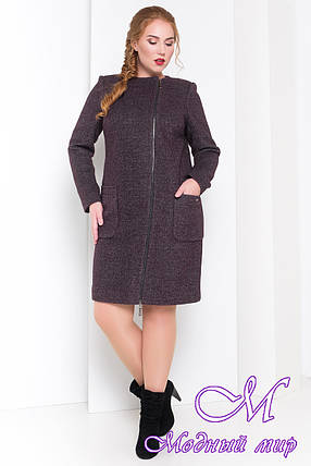 Осеннее женское пальто батал (р. XL, XXL, XXXL) арт. Милтон Донна 3376 - 17321, фото 2