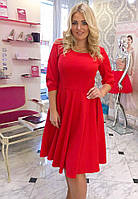 Платье с карманами пышная юбка, рукав 3/4.