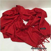 Палантин, шарф красный, натуральная пашмина