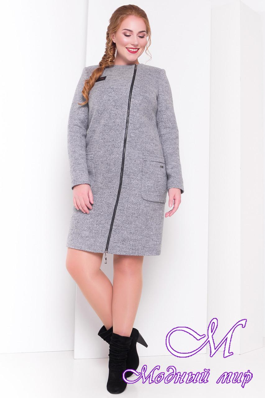 Демисезонное женское пальто батал (р. XL, XXL, XXXL) арт. Милтон Донна 3376 - 17317