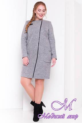 Демисезонное женское пальто батал (р. XL, XXL, XXXL) арт. Милтон Донна 3376 - 17317, фото 2
