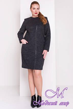 Женское демисезонное пальто батал (р. XL, XXL, XXXL) арт. Милтон Донна 3376 - 17319, фото 2