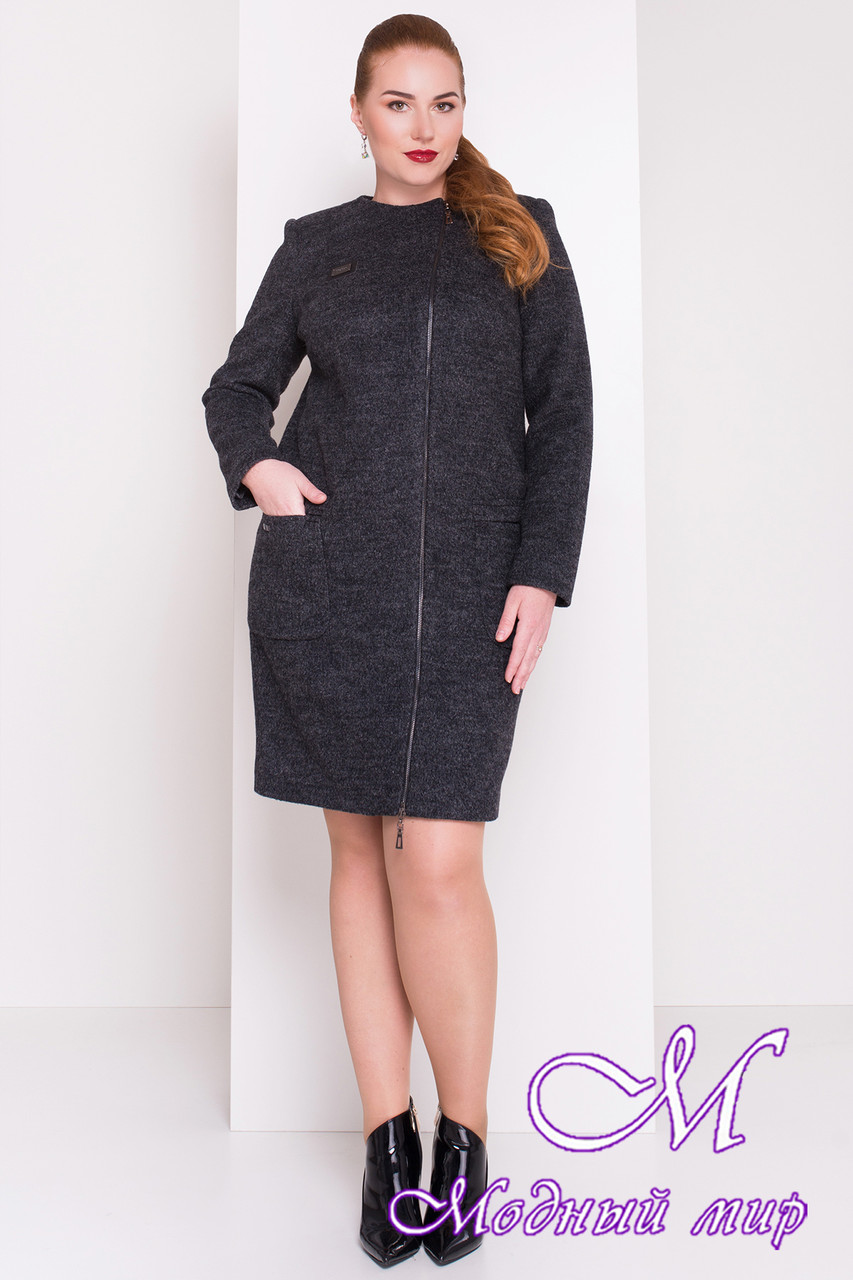 Женское демисезонное пальто батал (р. XL, XXL, XXXL) арт. Милтон Донна 3376 - 17319