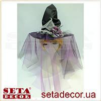 Колпак для Ведьмочка с розой с вуалью синт. ткань, фатин