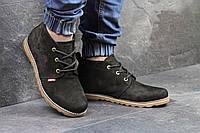 Замшевые мужские ботинки Levis, черные, с мехом