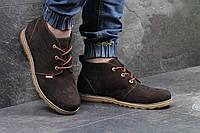Ботинки мужские Levis, замшевые, темно-коричневые
