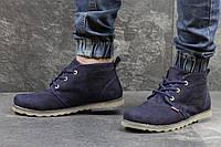 Замшевые зимние ботинки Levi's, мужские, темно-синие