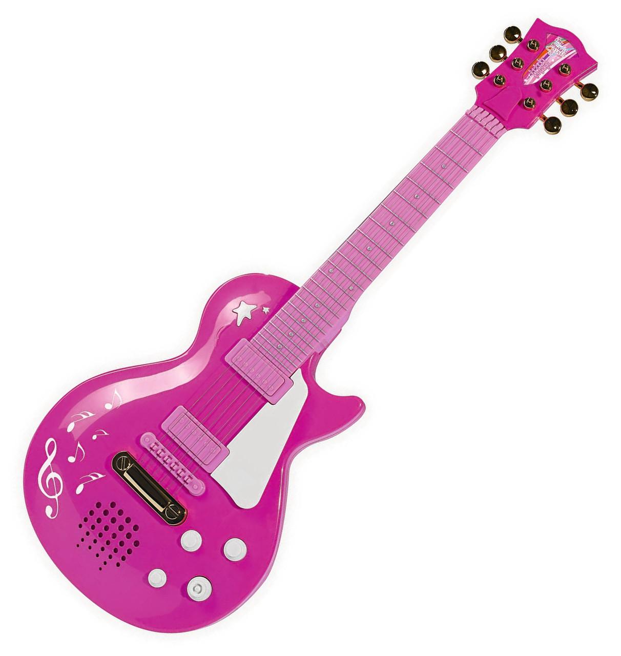 """Детский музыкальный инструмент «Simba» (6830693) электронная гитара """"Девичий стиль"""" с металлическими струнами, 56 см"""