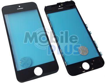 Стекло для переклейки дисплея Apple iPhone 5C c рамкой и OCA пленкой Black
