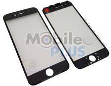 Стекло для переклейки дисплея Apple iPhone 6 c пластиковой рамкой и OCA пленкой Black