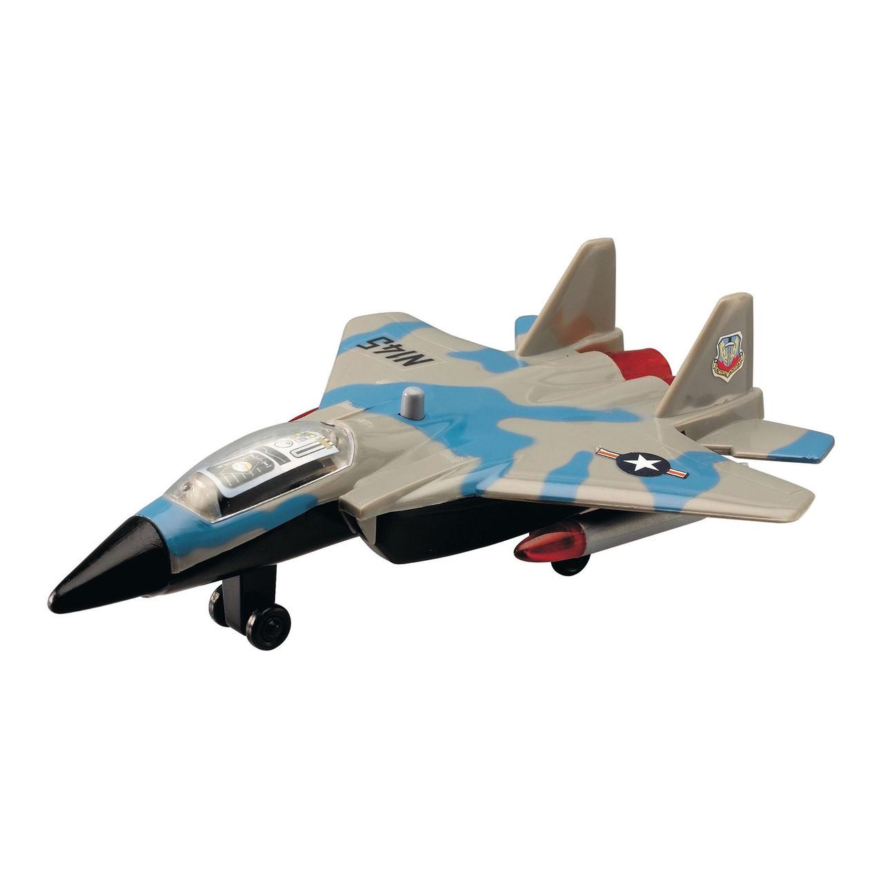 Военный самолет, 17 см (серо-голубой) «Dickie Toys» (3553006)