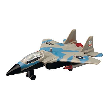 Военный самолет, 17 см (серо-голубой) «Dickie Toys» (3553006), фото 2