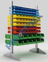 Стеллаж для пластиковых лотков h=1500 мм двусторонний