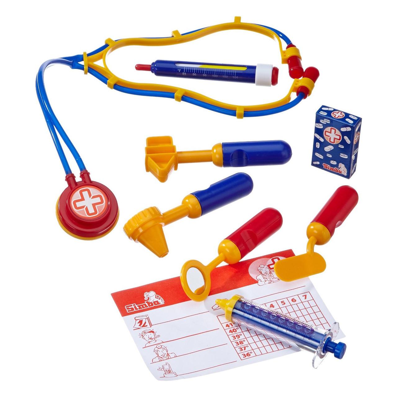 Ігровий набір «Simba» (5549757) набір доктора в валізі 20x13, 9 предметів