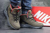 Мужские высокие кроссовки Найк Хуарачи, Nike Air Hurache Winter, коричневые