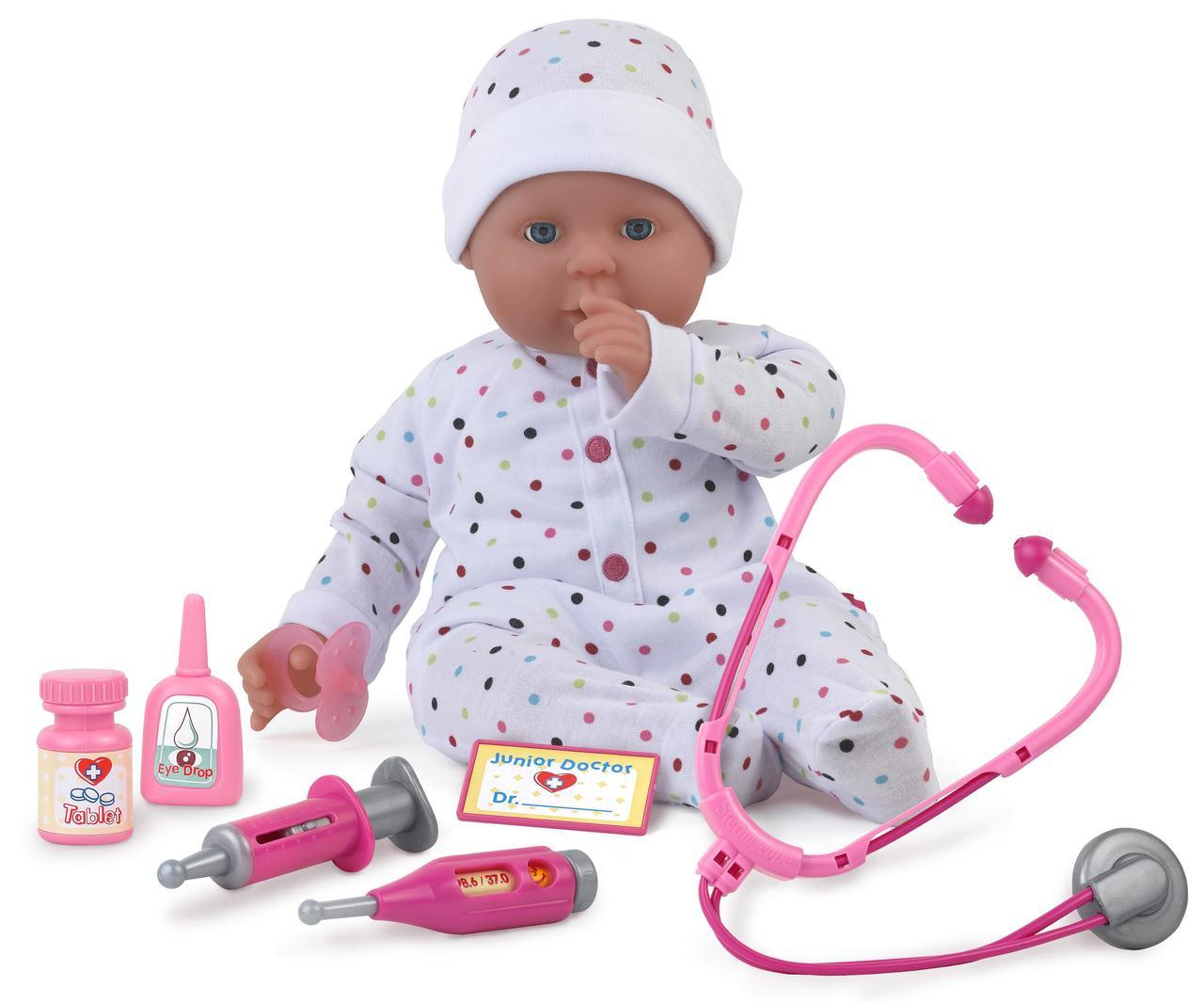 Куклы и пупсы «Dolls World» (8739) пупс Долли - доктор, с аксессуарами