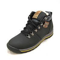 Ботинки подросток Torsion кожаные с мехом черные (р.36,37,38,39)