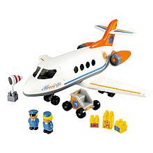 Конструктор «Ecoiffier» (003045) Реактивний самолёт с людьми и грузом, 32 элемента