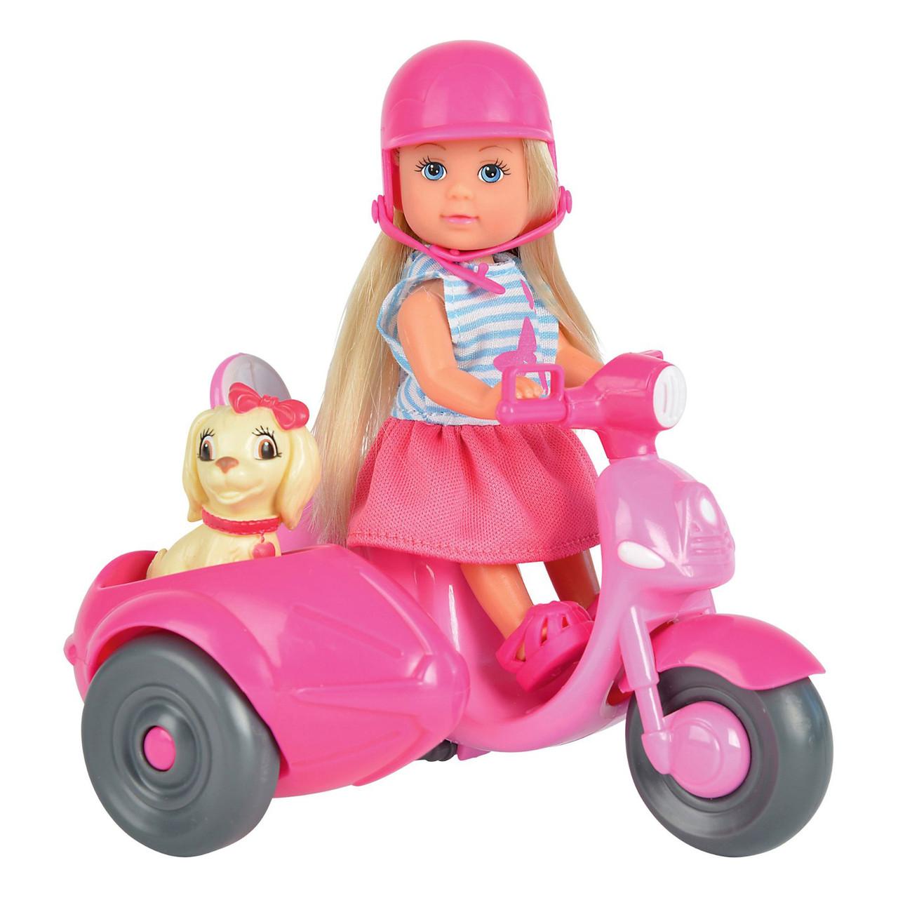 "Куклы и пупсы «Simba» (5736584) Эви на прогулке на скутере с пёсиком ""Scooter Tour"", 12 см"