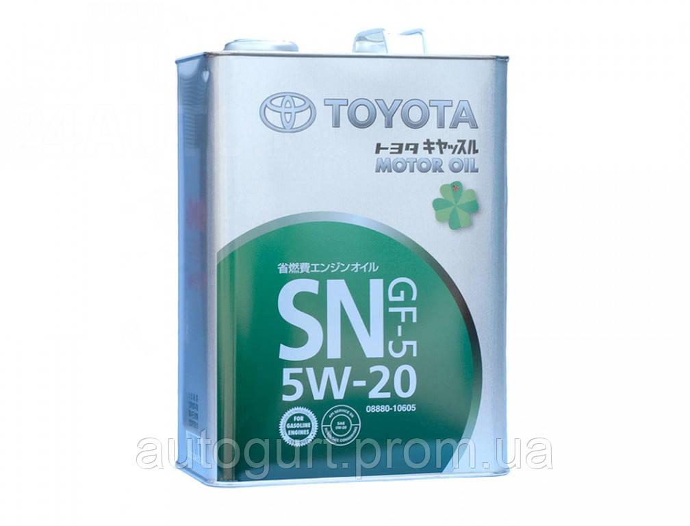 Toyota Motor Oil SN 5W20 (Япония) (4 л.)
