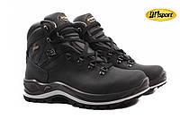 Ботинки мужские Grisport натуральная кожа, цвет черный (платформа, комфорт, зима, Мембрана Gritex, Италия)