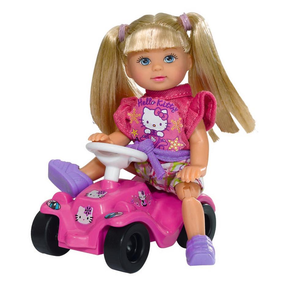 "Куклы и пупсы «Simba» (5730973) Эви с машинкой Big Bobby Car ""Hello Kitty"" (вид 1)"
