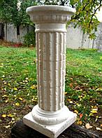 Колонна, подставка, постамент, стойка, свадебная тумба белая 56 см. большая. Полистоун