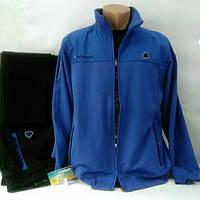 Спортивный трикотажный костюм Соккер, Турция, синий/черный.