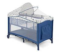 Кроватка-манеж Milly Mally Mirage Deluxe Blue White