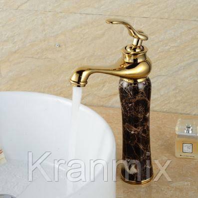 Смеситель для раковины Aquaroom золото