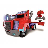 """Игрушечные машинки и техника «Dickie Toys» (3116003) грузовик """"Трансформер. Миссия Оптимус Прайм"""" с функцией стрельбы,, 23 см"""