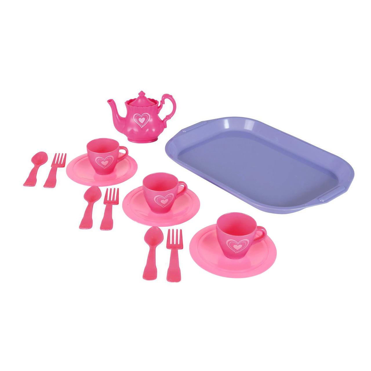"""Игровой набор «Simba» (4735259) набор посуды """"Чайный сервиз"""" с подносом, серия """"My Little Home"""", 14 предметов"""