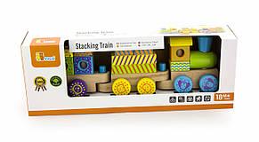 Развивающие и обучающие игрушки «Viga Toys» (50572B) деревянный конструктор Поезд, фото 2