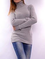 Теплый свитер из шерсти мериноса, серый