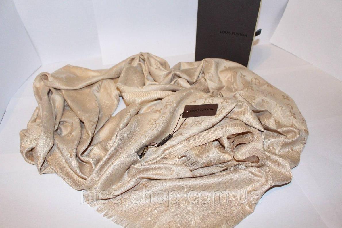 Платок Louis Vuitton бежевый, фото 2