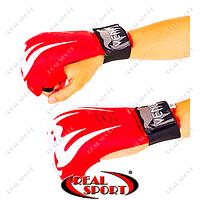 Перчатки для каратэ Venum Giant MA-5854-R (PU, р-р S-L, красный, манжет на резинке)