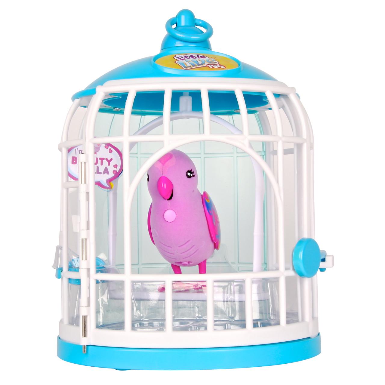 Интерактивная игрушка «Little Live Pets» (28024) птичка в клетке красотка Белла (Beauty Bella)